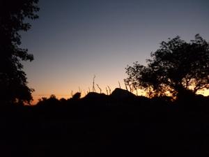 Bergen en uitzicht vanuit onze boederij